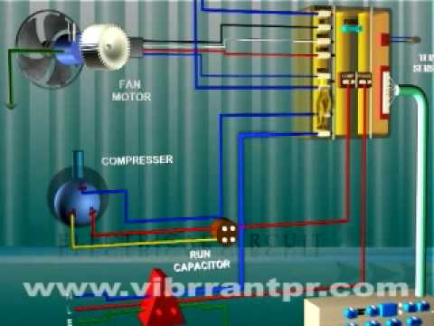 Fan Motor Capacitor Wiring Diagram Electrical Socket How Circuits Of Window Acs Work Youtube