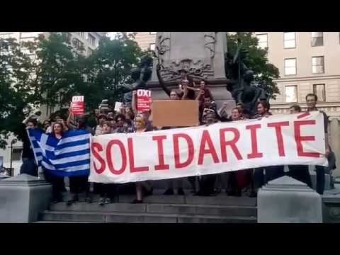 REPLAY: Solidarity with the Greek population - #ThisIsACoup #Montreal