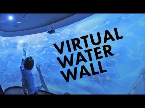 Interactive Projection Mapped Water Wall w/ Kinect and Unity3D