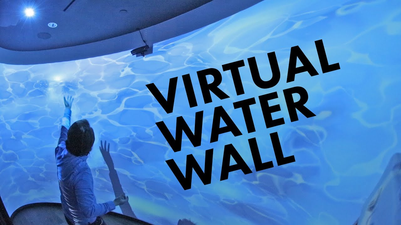 Interactive Projection Mapped Water Wall W Kinect And