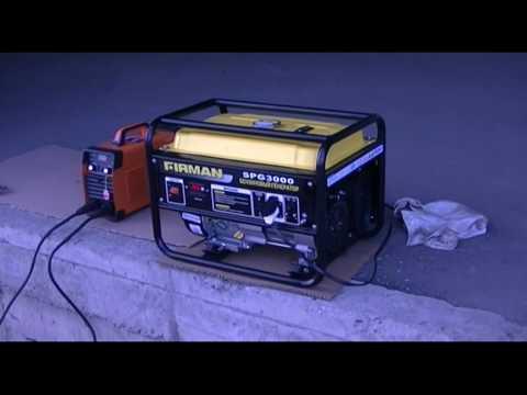видео: Сварка от бензогенератора 2,5 ква