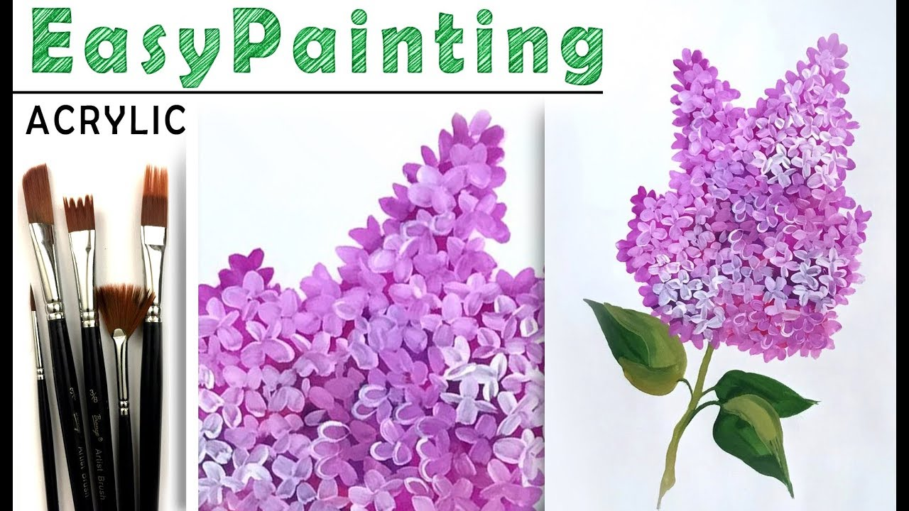 how to paint acrylic flowers