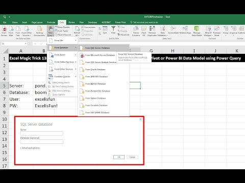 Excel Magic Trick 1385: Import Tables from SQL Server Database into Power Pivot or PBI Data Model