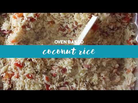 Oven Baked Coconut Rice