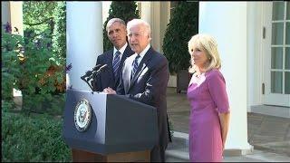 Joe Biden Says He Will Not Seek Presidency