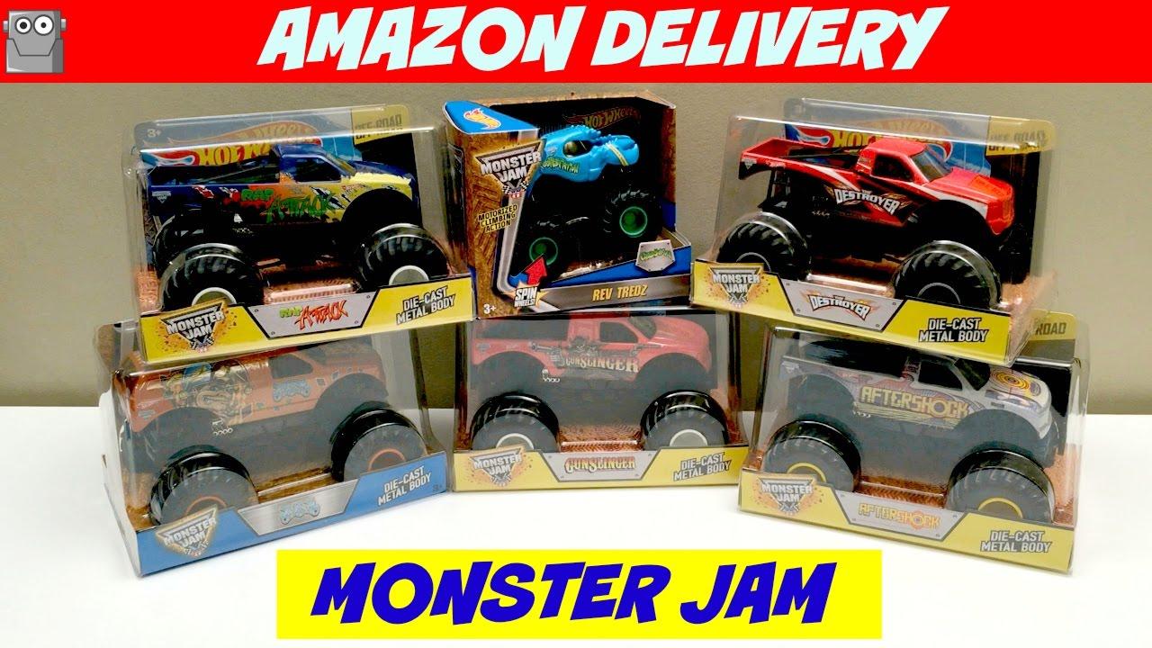 Monster Jam Amazon Delivery Crushstation Jester Youtube