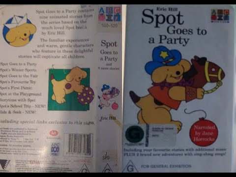 Spot Goes To A Party Australian VHS 2000