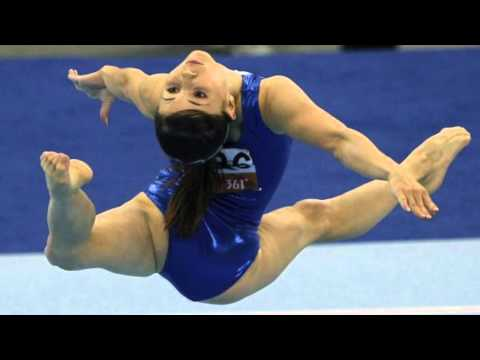 Spanish gymnast performs floor routine doovi for Indian gymnastics floor music