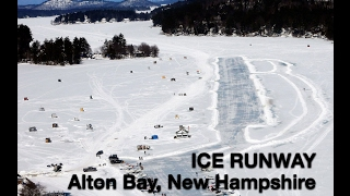Alton Bay NH Ice Runway on Lake Winnipesaukee:  Plane Flips Over