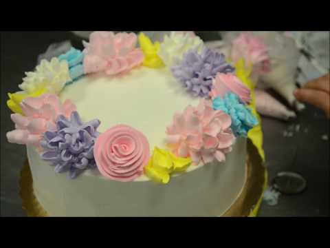 Amazing Flower Design Birthday Cake
