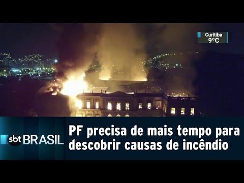 PF precisa de mais tempo para descobrir causas do incêndio no Museu Nacional | SBT Brasil (05/09/18)