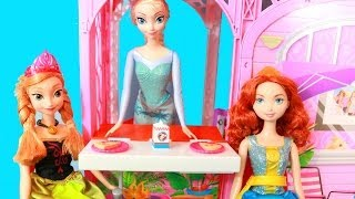 Barbie Beach Doll House Reveiw With Disney Frozen Elsa Anna & Merida Brave Alltoycollector