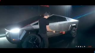 They Hit A Tesla Cybertruck With A Sledgehammer (watch What Happens)