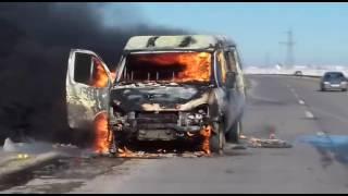 Qubada idmançı uşaqları aparan avtobus yandı - ŞOK VİDEO