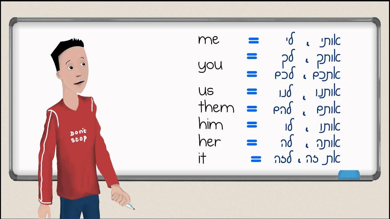 אנגלית בסיסית - שמות גוף 2 (מושא ישיר ועקיף) me you