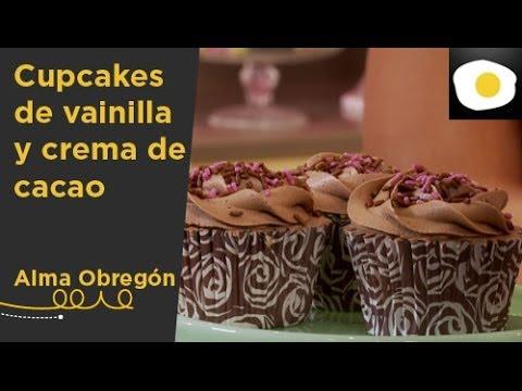 Cupcakes de vainilla y cacao receta alma obreg n - Videos de alma obregon ...