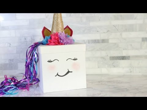 Unicorn Valentines Day Box Idea Youtube