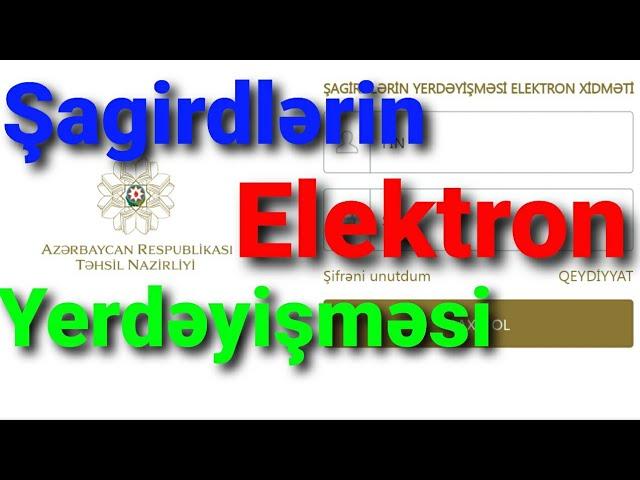 Elektron Yerdeyisme 2020 Sagirdlərin Elektron Yerdəyisməsi Www Sy Edu Az Youtube