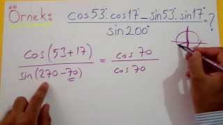 Trigonometri 11 (Toplam Fark Formülleri) Şenol Hoca Matematik