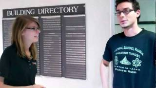 Interviewing Students in the UCF Engineering Building