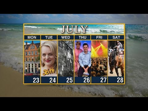 Calendar: Week of July 23