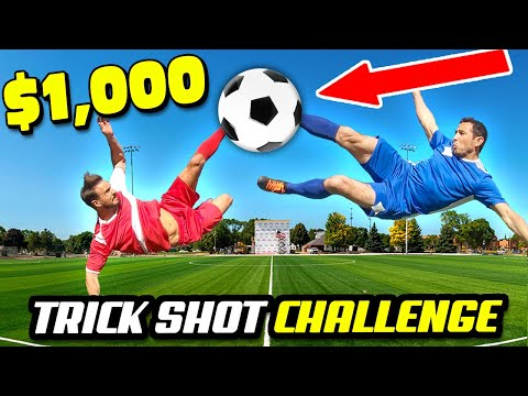$1000 REAL LIFE ANIME Trick Shots Challenge (Pros Vs. Trick Shot Experts In Football/Soccer)