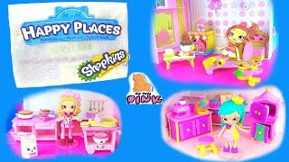 DISNEY + SHOPKINS Мебель для Кукол Диснеевских Принцесс + Шопкинс! PLAY DOLLS СЮРПРИЗ с Игрушками