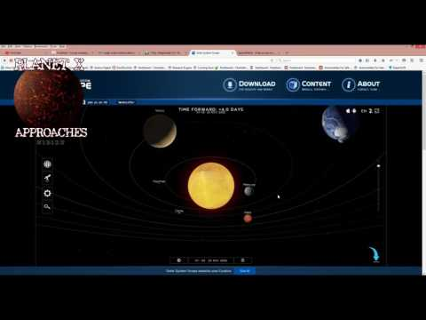 Tracking the approach and online tools   Planet X Approaches