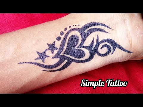 Simple Tattoo Designs Of Heart And Star Combination Beautiful Idea Youtube