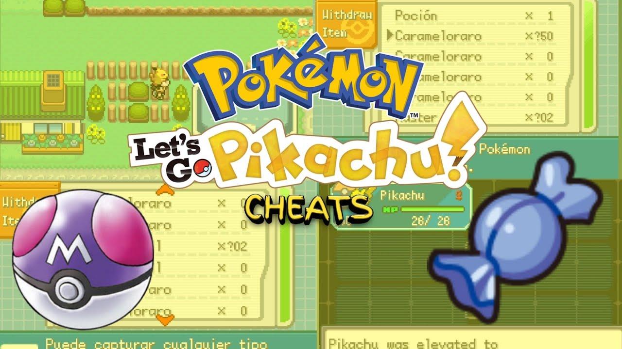 Pokemon Let S Go Pikachu Gba Cheats Download Youtube