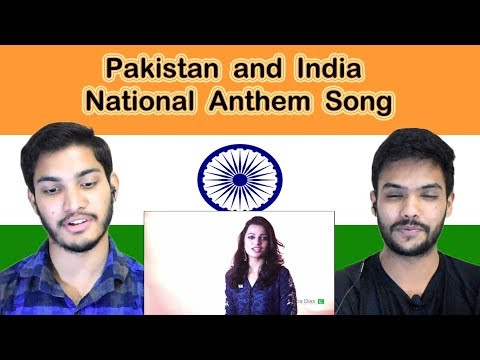 Indian reaction on Pakistan and India National Anthem Song | Swaggy d