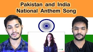 Indian reaction on Pakistan and India National Anthem Song   Swaggy d