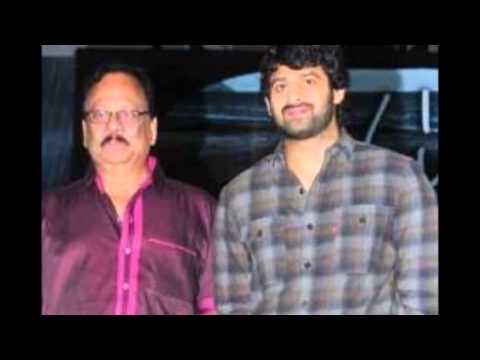 Telugu actor Prabhas with his uncle actor Krishnam Raju