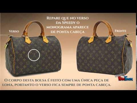 1ed48b898 Como reconhecer uma bolsa Speedy - Louis Vuitton - YouTube