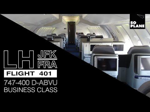 Lufthansa | 747-400 | Business Class | New York JFK to Frankfurt |Full Flight GoPro Time-lapse