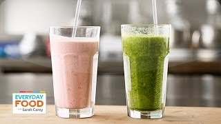 Hearty Fruit And Oat Smoothie And Green Ginger-peach Smoothie - Everyday Food With Sarah Carey