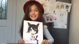 Video How to draw chibi anime - Maya shows how to draw a cat girl download MP3, 3GP, MP4, WEBM, AVI, FLV Juni 2018