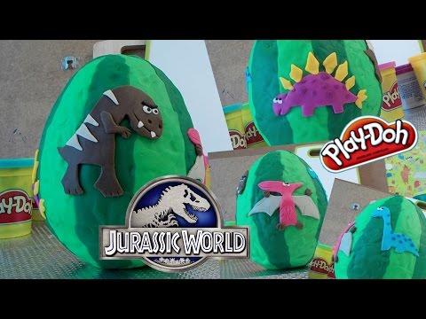 Play-Doh Jurassic World: Dinosaur Egg ☆ KINDER JOY SURPRISE ☆ Angry Birds