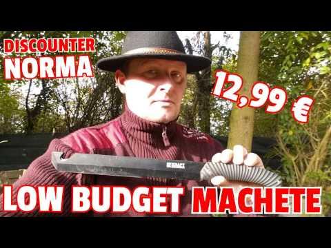 ✔LOW BUDGET MACHETE f. 12,99€ von Norma / Hardcore Test u. Review / Discount Bushcraft Kit