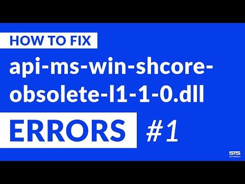 api-ms-win-shcore-obsolete-l1-1-0.dll Missing Error on Windows   2020   Fix #1