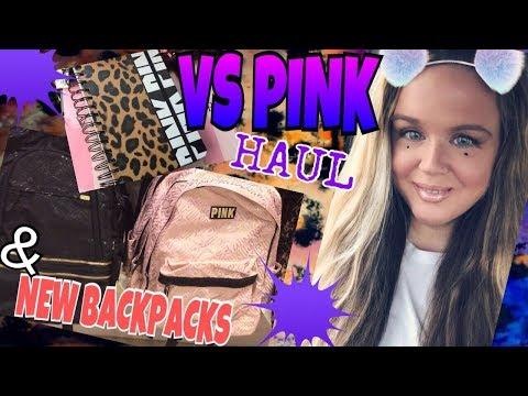 VICTORIA'S SECRET PINK HAUL 2017 | NEW VS PINK CAMPUS BACKPACKS