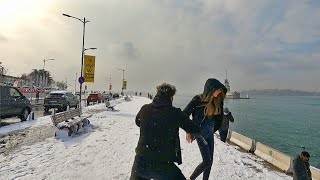 Istanbul Walk   Snowfall in Üsküdar, Winter 2021