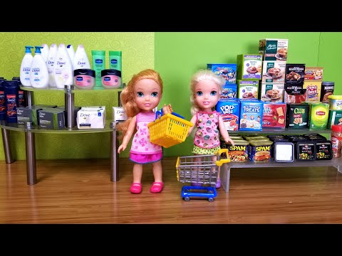 grocery-!-elsa-and-anna-toddler-at-the-store---shopping---food---supermarket---hide-and-seek
