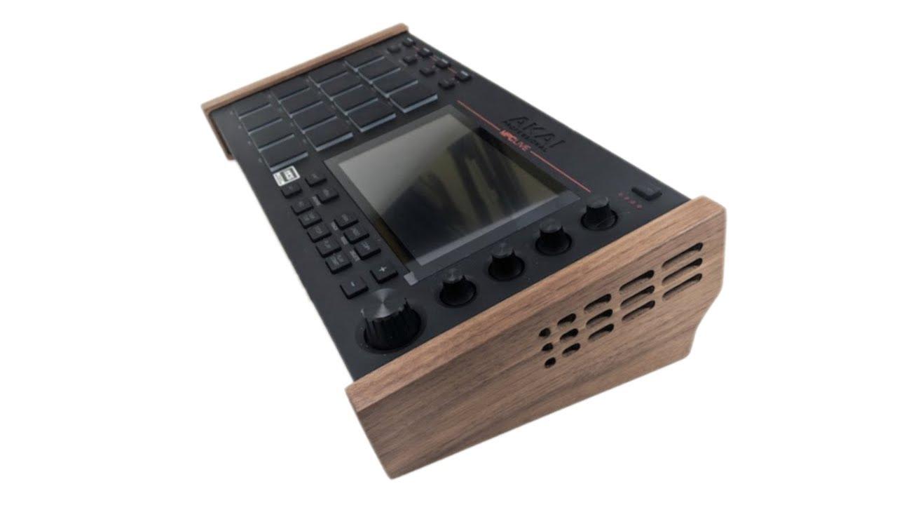 Wood Side Panel Tilt Stand - Akai MPC Live - Walnut Portable