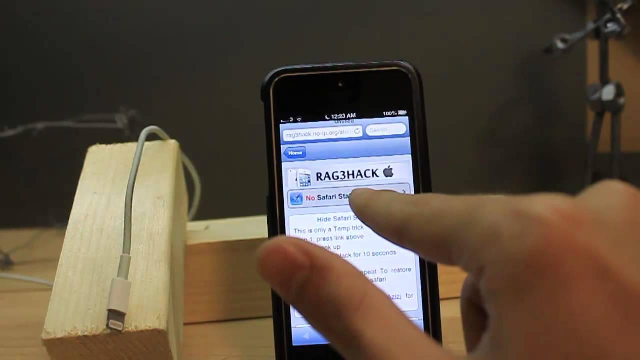 How to hide safari status bar in iPhone 5/4s/4[No Jailbreak]