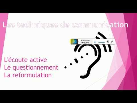 #3 Les techniques de communication