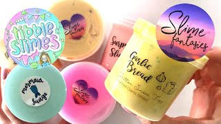 REVIEWING TWO FAMOUS SLIME SHOPS! (SLIME FANTASIES + TIBBLESLIMES)