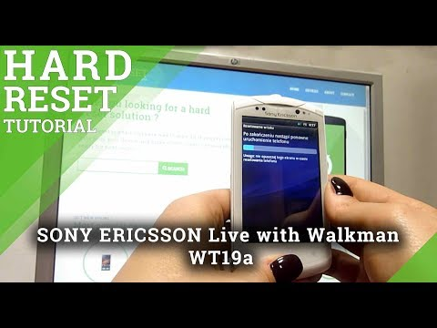 Hard Reset SONY ERICSSON Live with Walkman WT19a