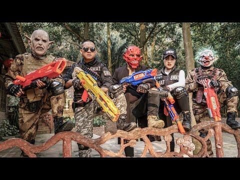 LTT Films : Silver Flash Nerf Guns Fight Criminal Group Tiger Mask Escort Prisoners