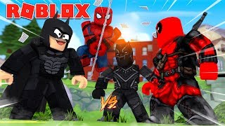AVENGERS INFINITY WAR IN ROBLOX! Roblox Hero War Tycoon With JeromeASF, xdarzethx, and BiffleWiffle
